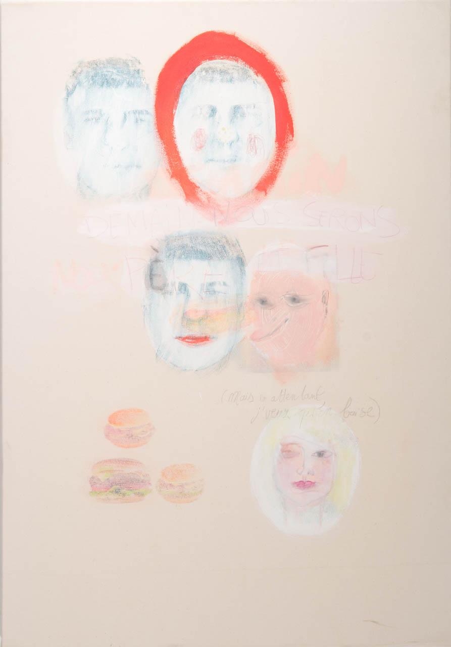 Demain nous serons père et fille, 116 x 89, 2011