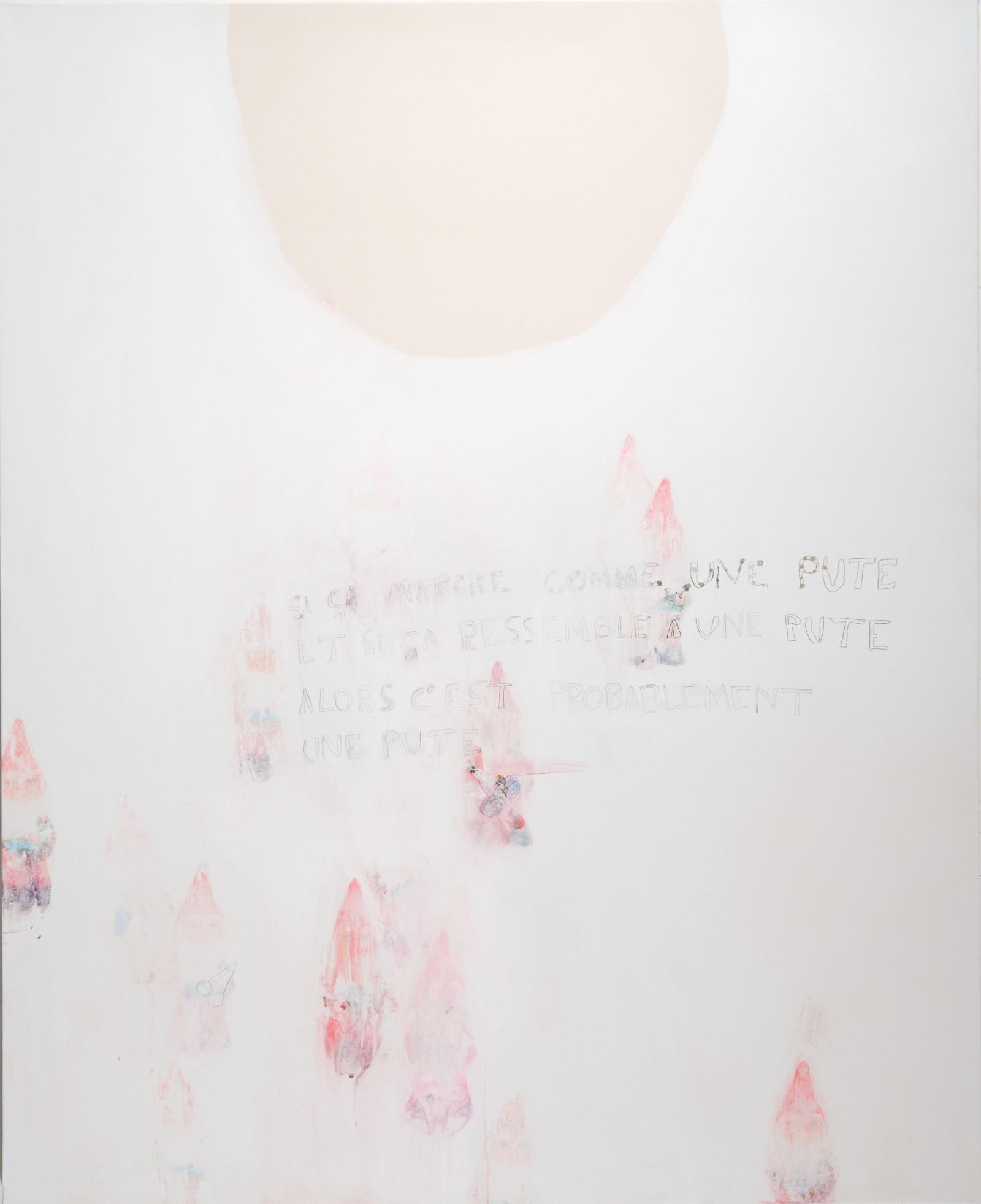 Si ça marche comme une pute, et si ça ressemble à une pute, alors c'est probablement une pute,150 x 100, 2012